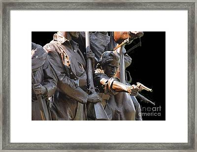 Framed Print featuring the photograph Gettysburg Monument by Cindy Manero