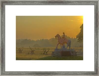 Gettysburg Morning Light Framed Print by Randy Steele