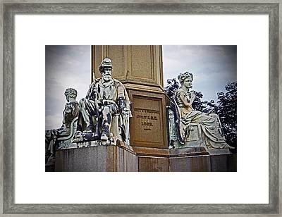 Framed Print featuring the photograph Gettysburg National Cemetery by Randall  Cogle