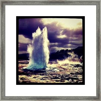 Geysir Framed Print