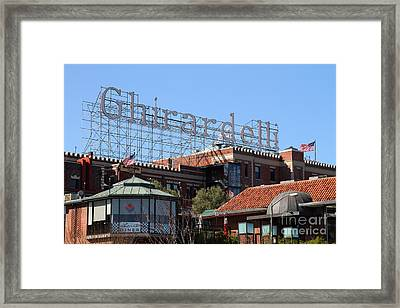 Ghirardelli Chocolate Factory San Francisco California . 7d13978 Framed Print