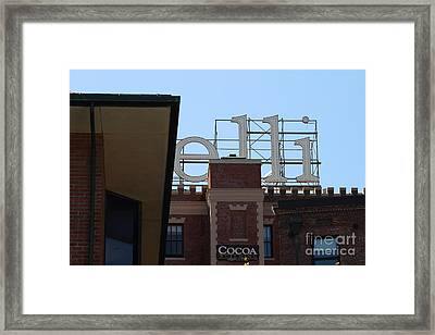 Ghirardelli Chocolate Factory San Francisco California . 7d14092 Framed Print