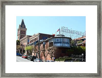 Ghirardelli Chocolate Factory San Francisco California . 7d14093 Framed Print by Wingsdomain Art and Photography
