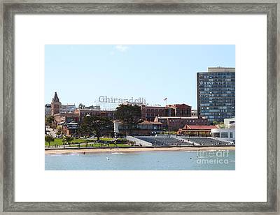 Ghirardelli Chocolate Factory San Francisco California . 7d14127 Framed Print