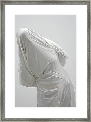 Ghost - Person Covered With White Cloth Framed Print by Matthias Hauser