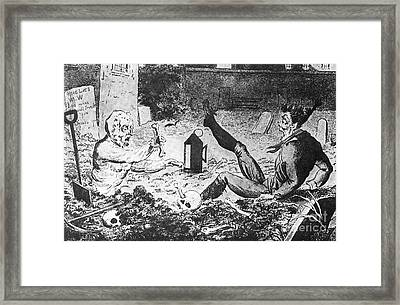 Ghost And Grave Robber Framed Print