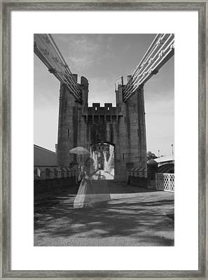Ghost Bridge Black And White Framed Print by Christopher Rowlands