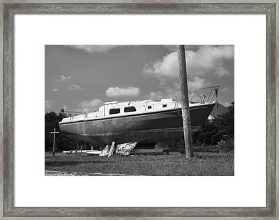 Ghost Crab Boat Framed Print
