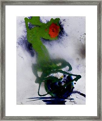 Ghost Flower Framed Print