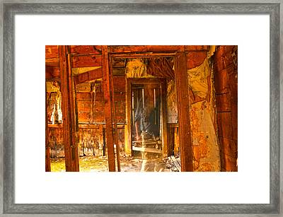 Ghost In Old Building Framed Print