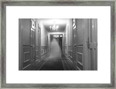 Ghost In The Hall At The Hawthorne Framed Print