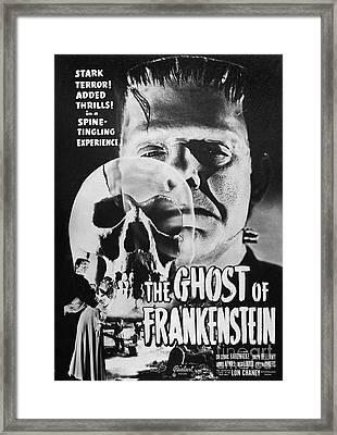 Ghost Of Frankenstein Framed Print by Granger