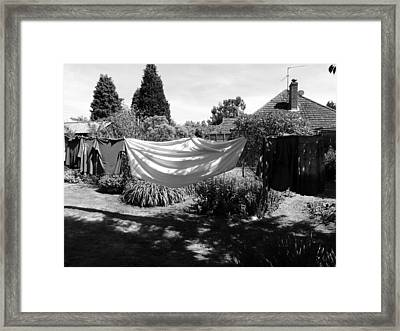 Framed Print featuring the photograph Ghost Of Laundry Past by Rdr Creative