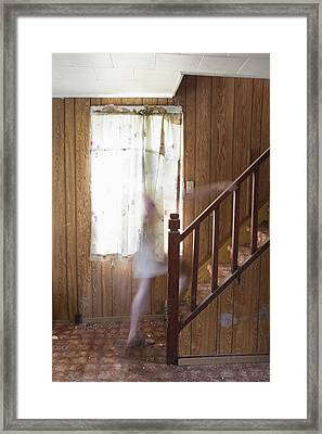 Ghost On The Stairs Thunder Bay Ontario Framed Print by Susan Dykstra