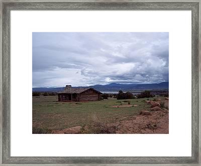 Ghost Ranch Vista Framed Print