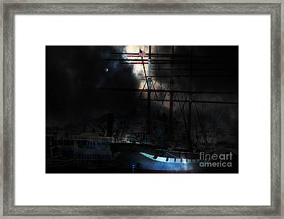 Ghost Ship Of The San Francisco Bay . 7d14032 Framed Print