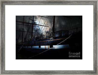 Ghost Ship Of The San Francisco Bay . 7d14153 Framed Print by Wingsdomain Art and Photography