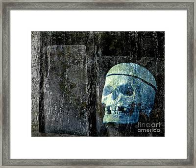 Ghost Skull Framed Print by Edward Fielding