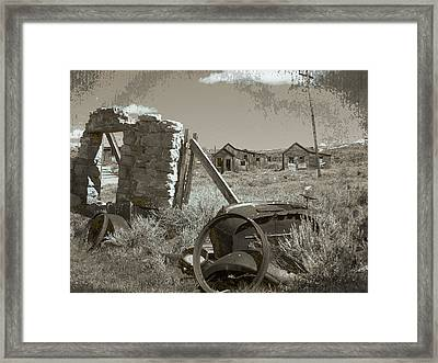 Ghost Town Series 3 Framed Print by Philip Tolok