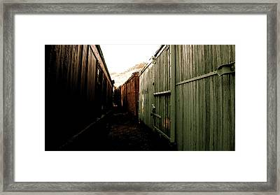 Ghost Train Yard Framed Print by Travis Burns
