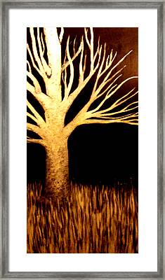 Framed Print featuring the painting Ghost Tree by Monica Furlow
