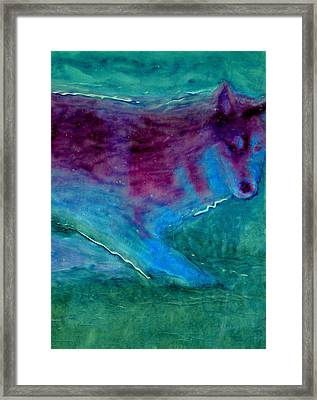 Ghost Wolf Framed Print by FeatherStone Studio Julie A Miller