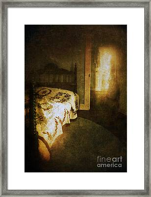 Ghostly Figure In Hallway Framed Print by Jill Battaglia