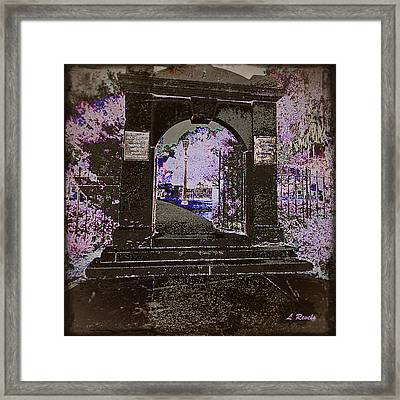 Ghostly Garden Framed Print by Leslie Revels Andrews