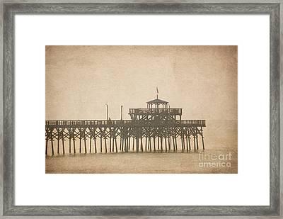 Ghostly Pier Framed Print by Bob and Nancy Kendrick