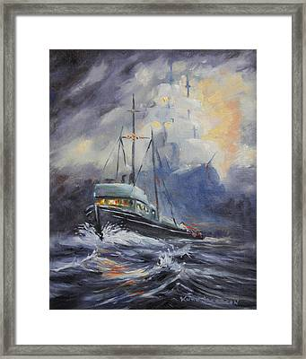 Ghosts Of The Seas Framed Print by Kurt Jacobson