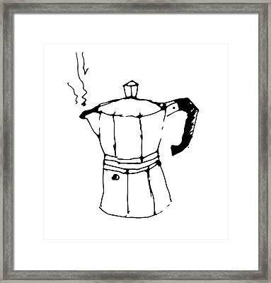 Gianfranco's Morning Espresso Framed Print