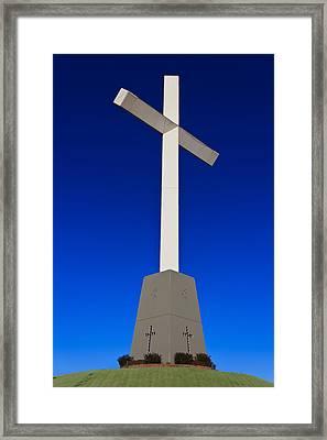 Giant Cross Framed Print by Doug Long