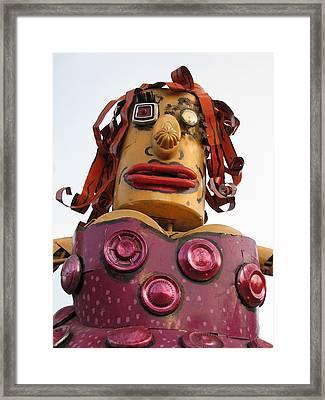 Giant Friendly Lady Robot Framed Print by Samuel Sheats