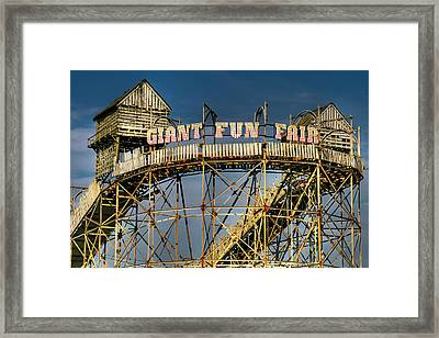 Giant Fun Fair Framed Print by Adrian Evans
