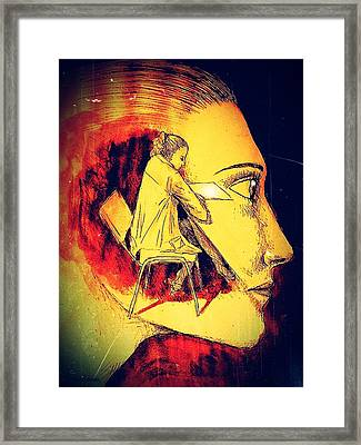 Giant Imprisoned In This Mountain Of The Solitude Framed Print by Paulo Zerbato