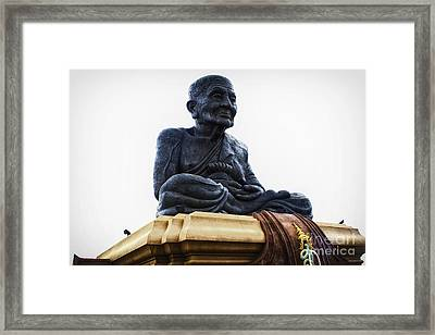 Giant Monk Framed Print by Thanh Tran