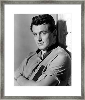 Giant, Rock Hudson, 1956 Framed Print by Everett