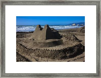 Giant Sand Castle Framed Print by Garry Gay