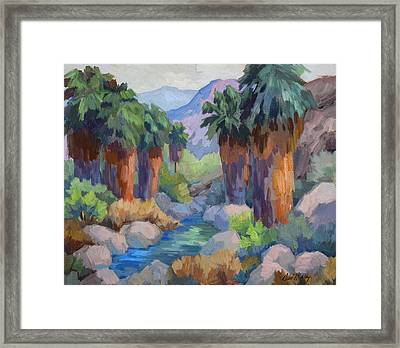Giants At Indian Canyon Framed Print by Diane McClary