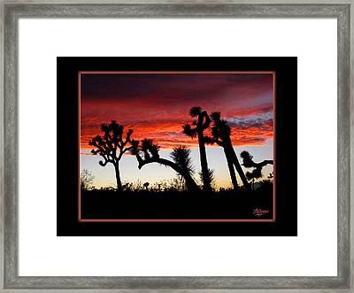 Giants Of Joshua Tree Ca Framed Print