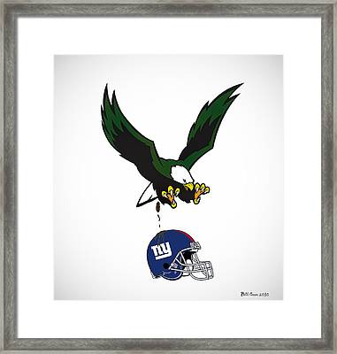 Giants Suck Framed Print