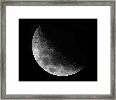 Gibbeous Moon Framed Print by Charles Warren