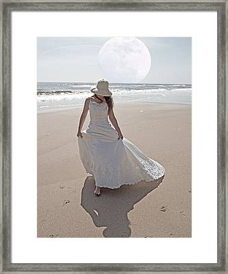 Gibbous Moon Gown Framed Print by Betsy Knapp