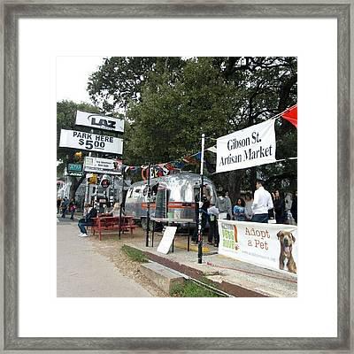 Gibson Street Artisan Market Framed Print