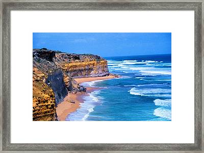 Framed Print featuring the photograph Gibson's Beach In Australia by Dennis Lundell