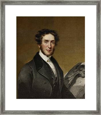 Gideon Mantell And Iguanodon Framed Print