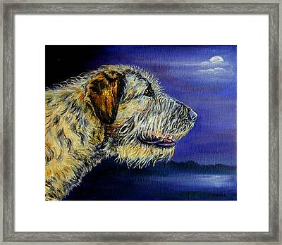 Gideon's Moon - Irish Wolfhound Framed Print by Lyn Cook