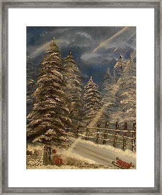 Gift For Santa Framed Print by Mary DeLawder