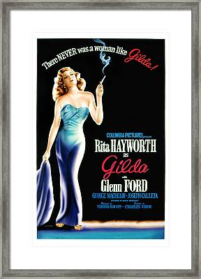 Gilda, Rita Hayworth Poster Art, 1946 Framed Print