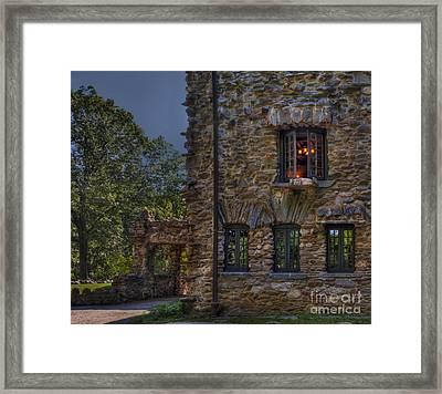 Gillette Castle Exterior Hdr Framed Print by Susan Candelario